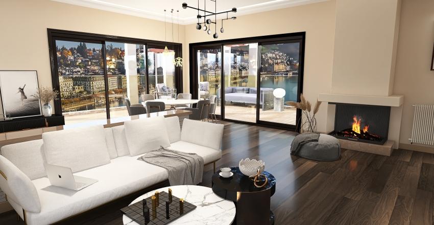 Austria Luxury Flat Interior Design Render