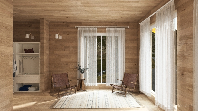 lodge Interior Design Render