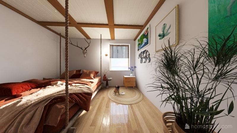 Bedroom- Ruchi Naware 2A Interior Design Render