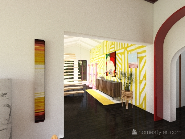 1st home of a residential community Interior Design Render