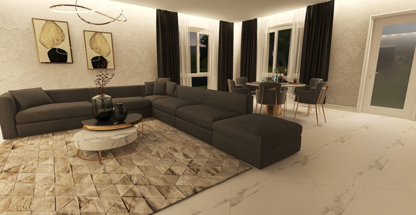 Дом Андрикевич Interior Design Render