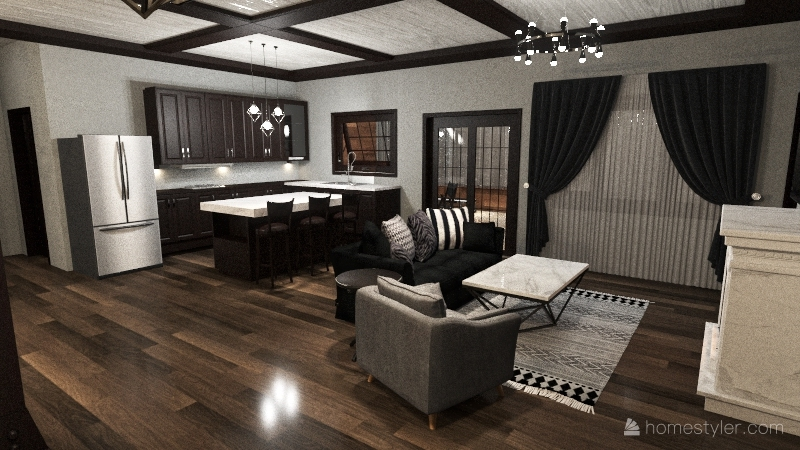 Country Ranch Interior Design Render