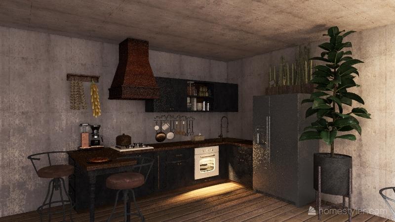 Dům růženky Interior Design Render