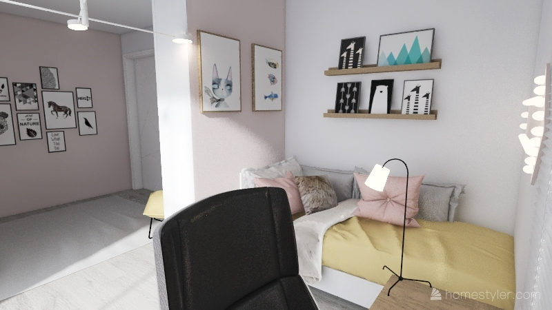 pokoj Ani - eket Interior Design Render