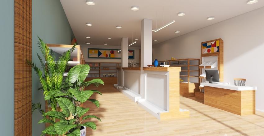 A packing shop - store design Interior Design Render