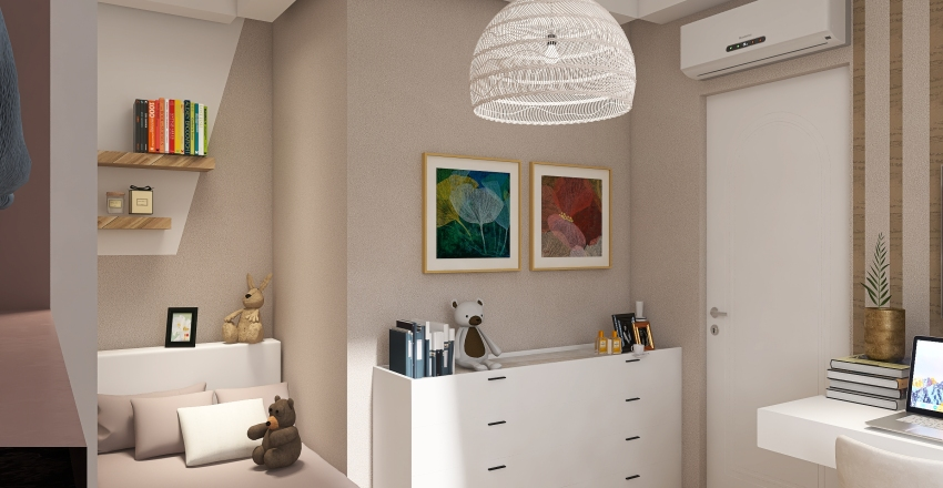 Alice's bedroom Interior Design Render