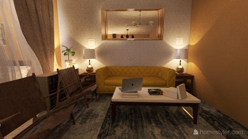 after apparment Interior Design Render
