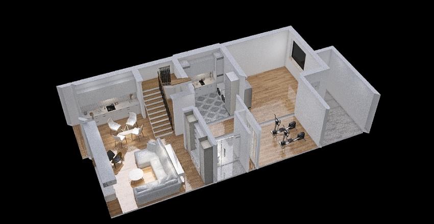 3728 basement Interior Design Render