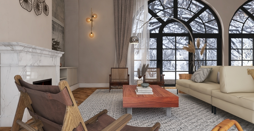 Snow Bungallow Interior Design Render