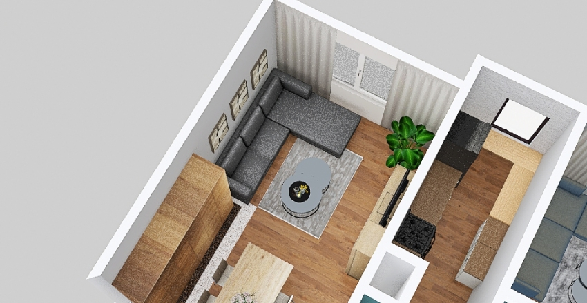 v2_mieszkanie Interior Design Render