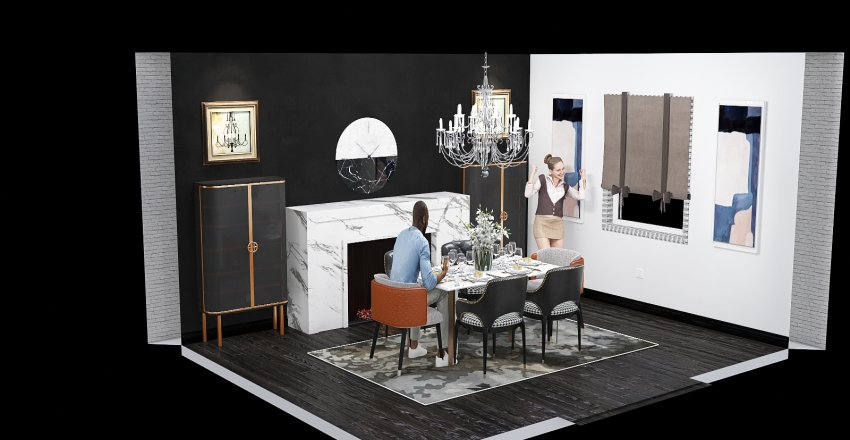 Copy of dining room copy Interior Design Render