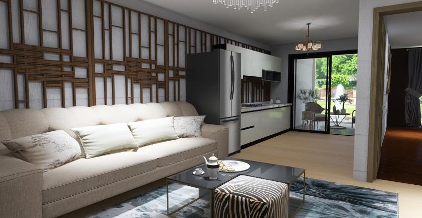 Casa de Campo Simples Interior Design Render