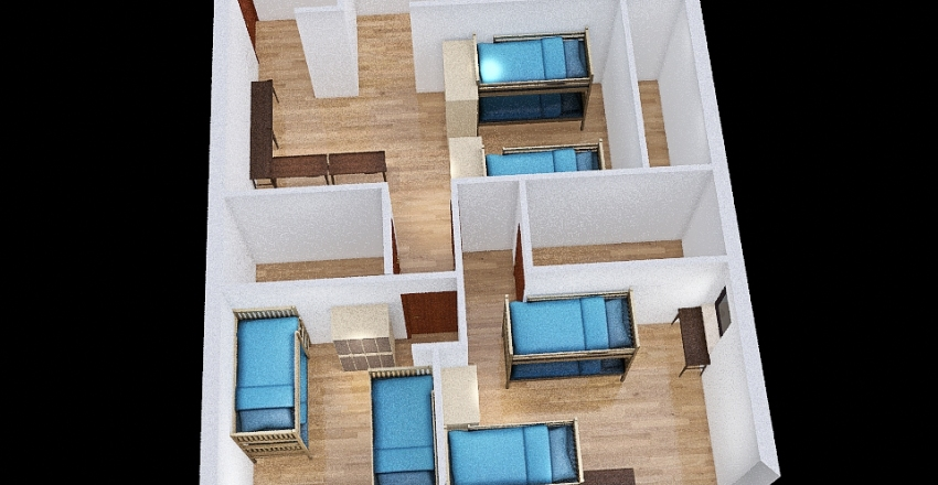 dorm 4 Interior Design Render