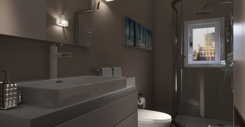 San Lorenzo Bilocale Interior Design Render