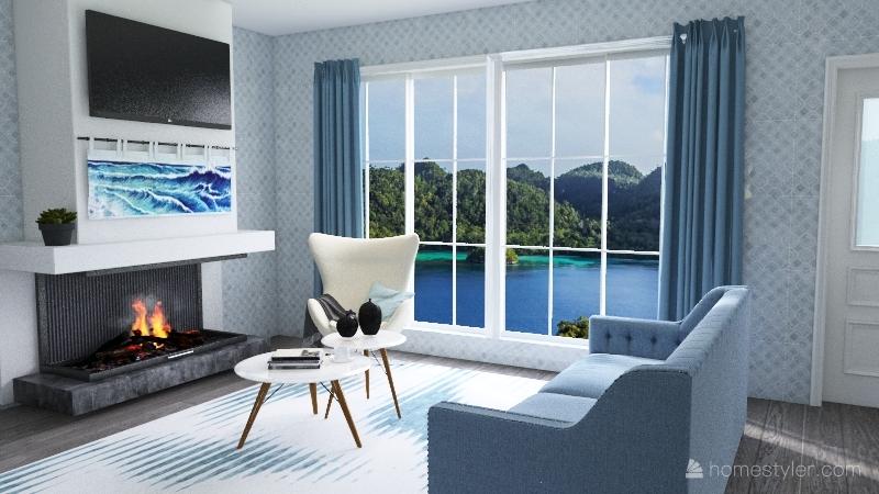 beach house 1st floor Interior Design Render