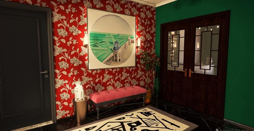 a splash of color Interior Design Render