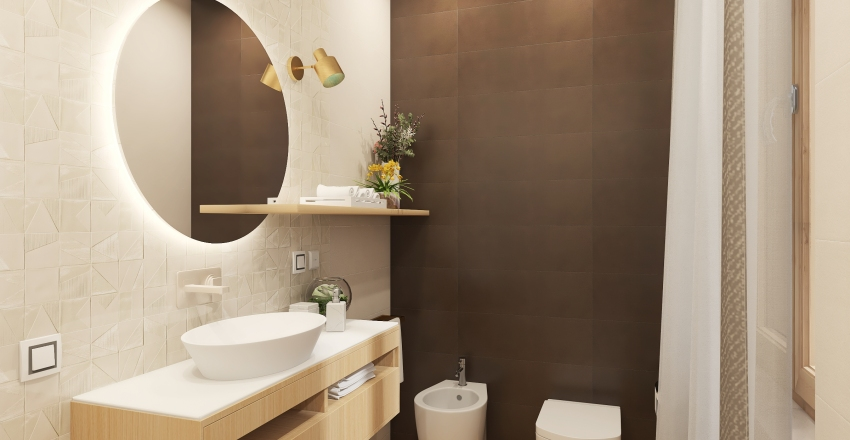 New layout for a small luxury bathroom Interior Design Render