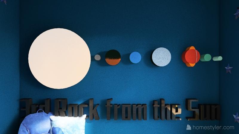Solar System Kids Room Interior Design Render