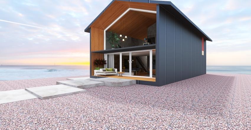 The beach cottage Interior Design Render