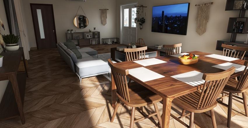Modern Boho Interior Design Render