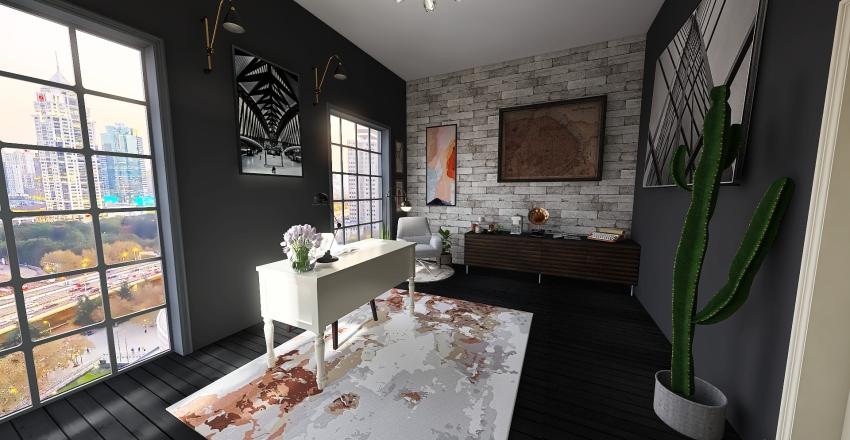 Departamento 1 Interior Design Render