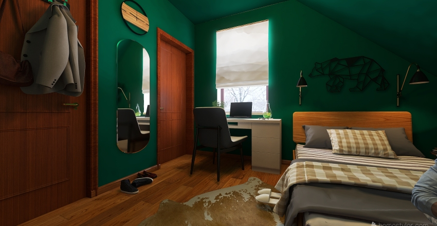 Tiny room Interior Design Render