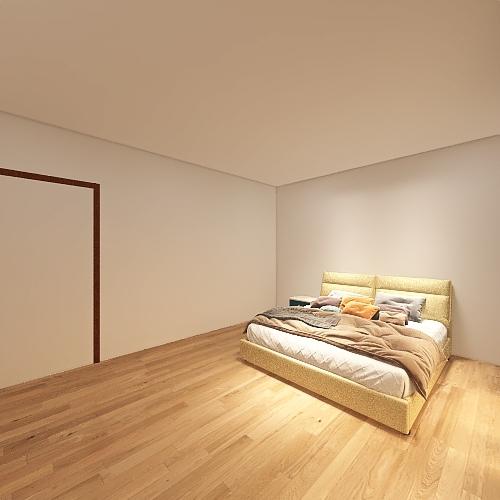 bedroom/bathroom Interior Design Render