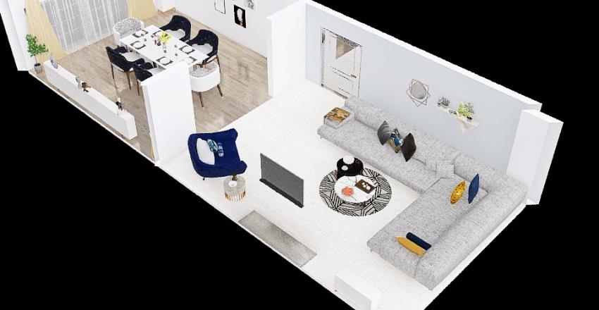 bh11 living room Interior Design Render