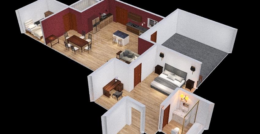 ranch Interior Design Render