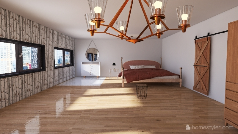 house in the city Interior Design Render