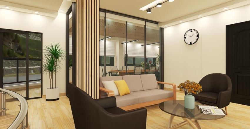 Second Floor of Concrete Company Interior Design Render