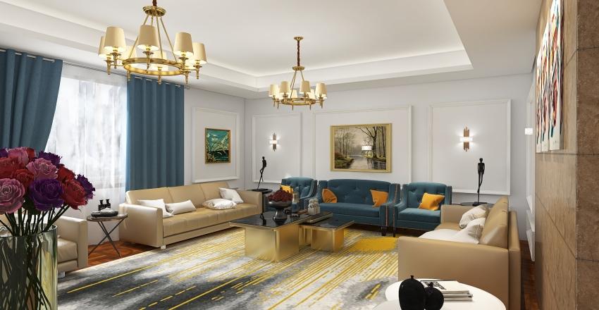 new classic majles Interior Design Render