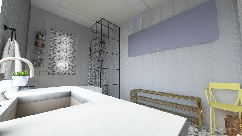 colorfull city life Interior Design Render