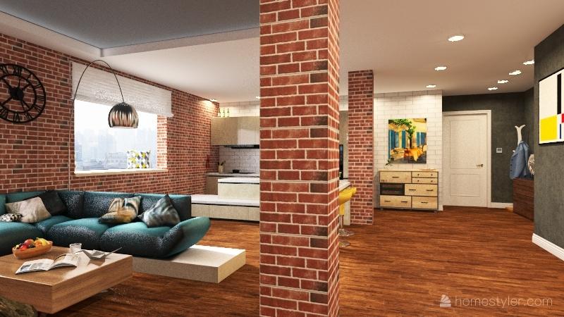 MANHATTAN FLAT Interior Design Render