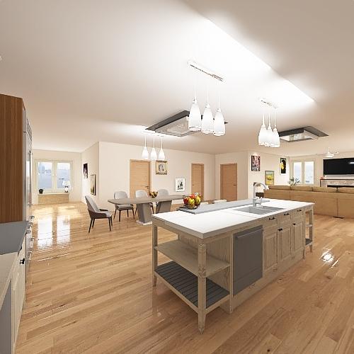 Rancher style house Interior Design Render