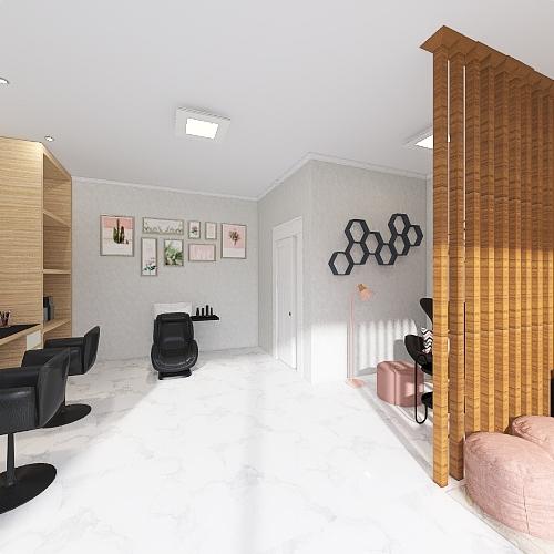 Salão Patricia Interior Design Render