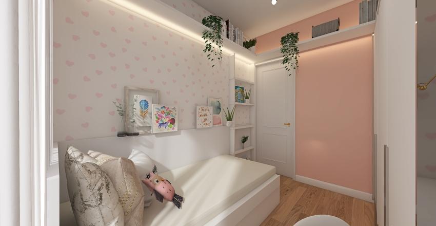 Quarto menina Interior Design Render