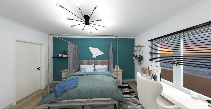 Blue room Interior Design Render
