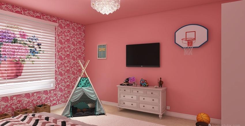 habitacion de niña Interior Design Render