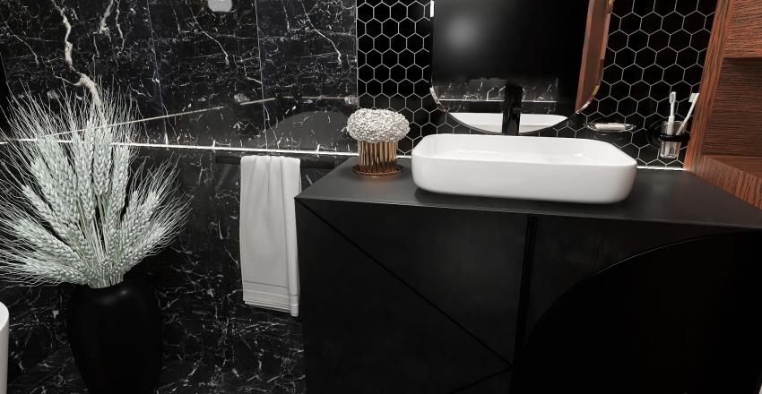 Black and Grey Interior Design Render