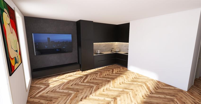 AR4 - Czarne Lamele uklad 2 Interior Design Render