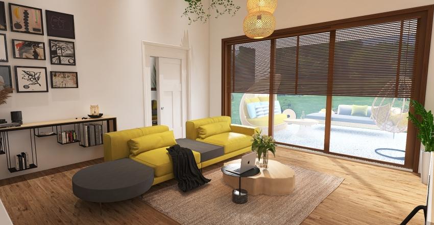 DOM Z 1 PIĘTREM Interior Design Render