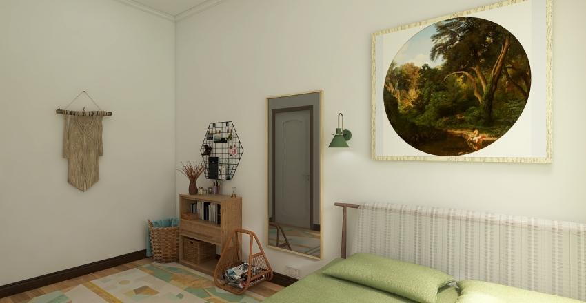 Simple Contemporary Home Interior Design Render