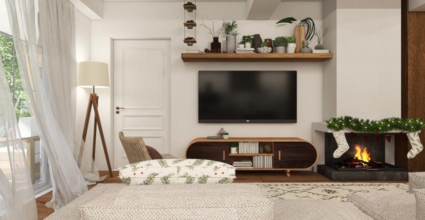 Boho Farmhouse - Xmas Edition Interior Design Render