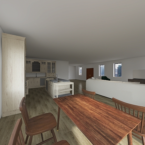 Ranch style house Interior Design Render