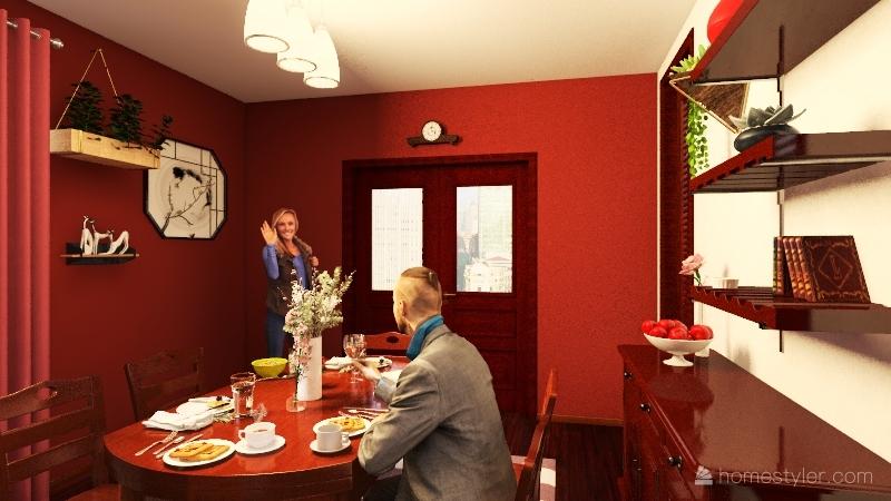 Copy of Dining Room - Final Project Interior Design Render