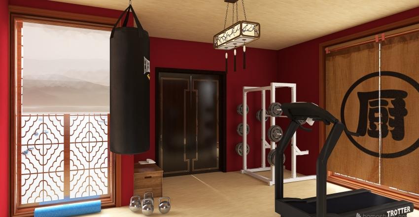 gimasio Interior Design Render