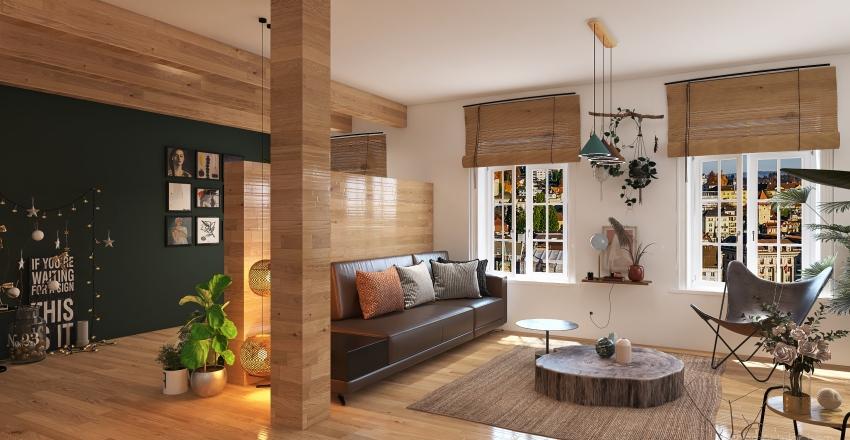 bohemian interior appartement Interior Design Render