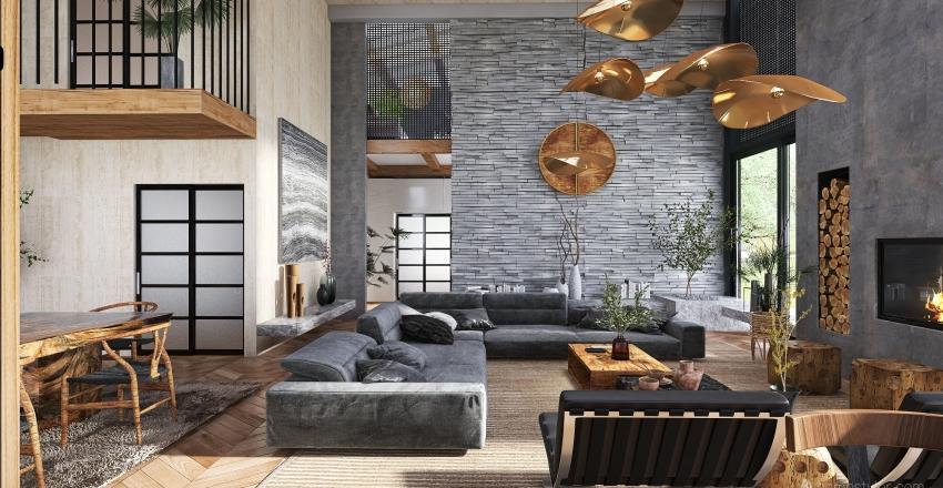 Reforma de casa  de campo Interior Design Render