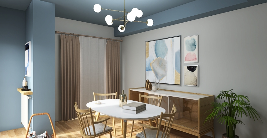 dining_room_decor Interior Design Render